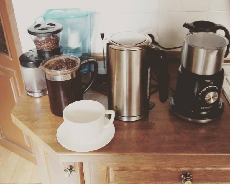 All needs for a day #odessa #ukraine #ontheroadagain #coffeetime #kitchen #birrsworld #TheMan #TomsTravel